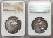 Ancient Coins - ATTICA, Athens. Ca. 165-42 BC. AR tetradrachm (16.66 gm). NGC Choice VF 4/5 - 4/5. New Style
