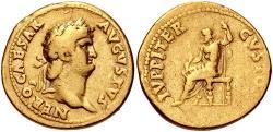 Ancient Coins - Nero. AD 54-68. AV Aureus (19mm, 7.03 g, 4h). Rome mint. Struck circa AD 64-65. NERO CΛESΛR