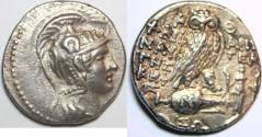 Ancient Coins - ATTICA, Athens. Circa 165-42 BC. AR Tetradrachm (29mm, 16.8 gm). New Style coinage.