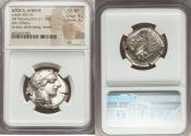 Ancient Coins - ATTICA. Athens. Ca. 440-404 BC. AR tetradrachm (26mm, 17.18 gm, 5h). NGC Choice