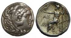 Ancient Coins - Alexander III. 336-323  BC. AR Tetradrachm (16.9  gm, 27 mm)