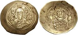 Ancient Coins - Michael VII Ducas. 1071-1078. EL Histamenon Nomisma (28mm, 4.27 g, 6h). Class II.