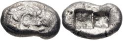 Ancient Coins - KINGS of LYDIA. temp. Cyrus – Darios I. Circa 550/39-520 BC. AR Siglos (17.5mm, 5.25 g).