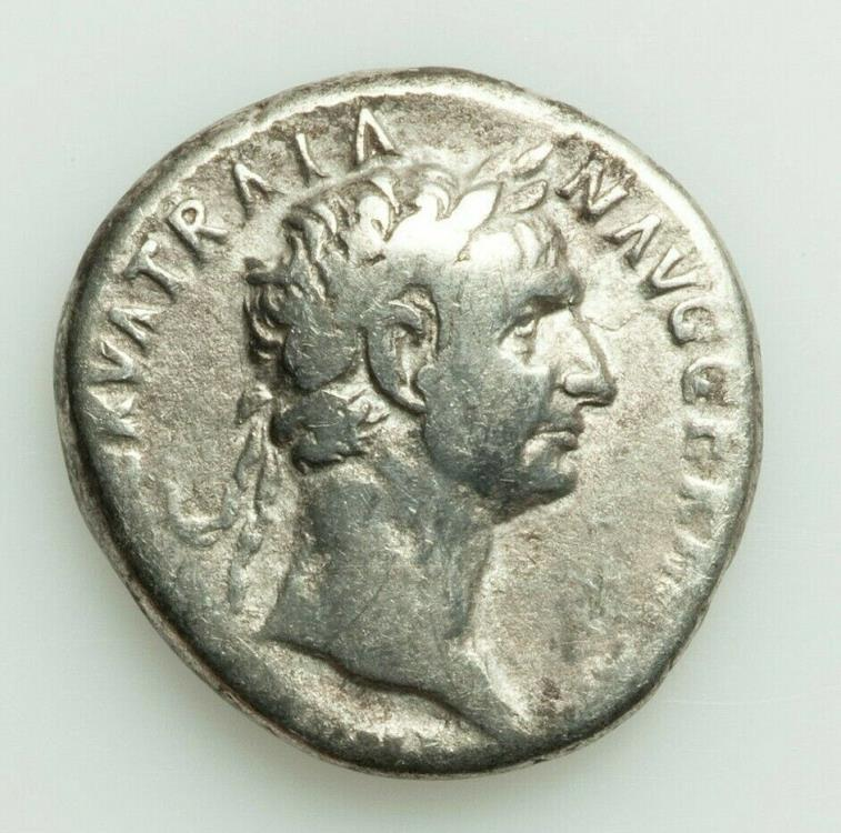 Ancient Coins - Trajan (AD 98-117). AR cistophorus. Fine. Rome, for use in Asia Minor, AD 98.