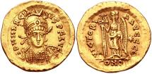 Ancient Coins - Marcian. AD 450-457. AV Solidus (21.5mm, 4.43 g, 6h). Constantinople mint, 9th officina.
