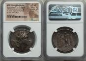 Ancient Coins - BITHYNIAN KINGDOM. Nicomedes IV (94-74 BC.) AR tetradrachm (34mm, 15.71 gm, 12h). NGC