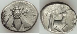 Ancient Coins - IONIA. Ephesos. Ca. 390-325 BC. AR tetradrachm (24mm, 14.82 gm 12h)