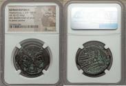 Ancient Coins - Roman Republic. Ca. 169-158 BC. AE as. NGC VF
