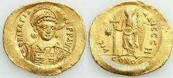 Ancient Coins - Anastasius I (AD 498-518). AV solidus (21mm, 4.43 gm, 7h). XF