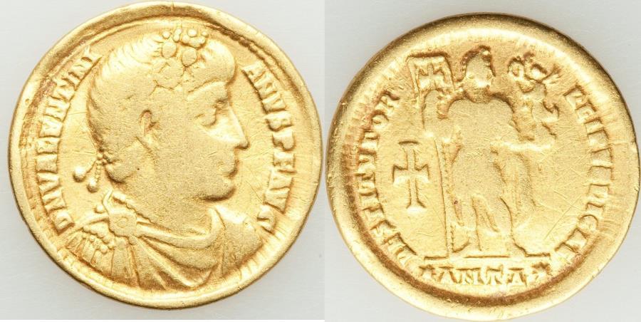 Ancient Coins - Valentinian I, Western Roman Empire (AD 364-375). AV solidus