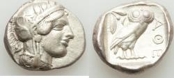Ancient Coins - ATTICA. Athens. Ca. 440-404 BC. AR tetradrachm (25mm, 17.13 gm, 7h).