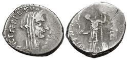 Ancient Coins - The Caesarians. Julius Caesar. February-March 44 BC. AR Denarius (18.5mm, 4.30 g, 6h). Lifetime issue.