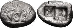 Ancient Coins - KINGS of LYDIA. temp. Cyrus – Darios I. Circa 550/39-520 BC. AR Siglos (16mm, 5.26 g).