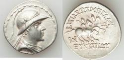 Ancient Coins - BACTRIAN KINGDOM. Eucratides I the Great (ca. 170-145 BC). AR tetradrachm (16.72 gm).