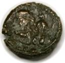Ancient Coins - Heraclius, with Heraclius Constantine. 610-641. Æ 12 Nummi (16mm, 6.09 gm). Alexandria mint.