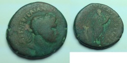 Ancient Coins - Trajan, AE28 of Caesarea Maritima, Samaria. NER TRAIANO OP AVG GER DAC COS V PP,