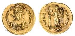 Ancient Coins - Roman Imperial. Eastern Empire. Theodosius II (408-450). AV Solidus. Constantinople