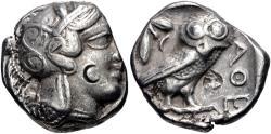 Ancient Coins - ATTICA, Athens. Circa 454-404 BC. AR Tetradrachm (23mm, 17.03 g, 8h).