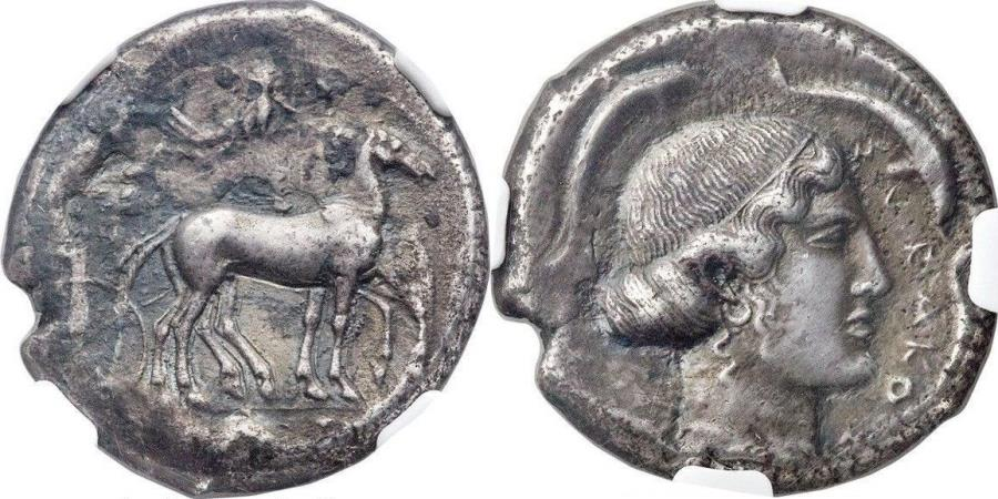 Ancient Coins - SICILY. Syracuse. Second Democracy. Ca. 466-406 BC. AR tetradrachm