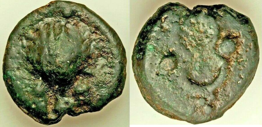 Ancient Coins - Anonymous. Ca. 280 BC. AE aes grave sextans (36mm, 49.52 gm, 6h).