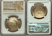 Ancient Coins - John II Comnenus (AD 1118-1143). EL aspron trachy (34mm, 4.51 gm, 6h). NGC AU