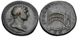 Ancient Coins - Trajan. AD 98-117. Æ Sestertius (33mm, 27.38 g, 6h). Rome mint. Group 10, circa AD 107-109.