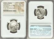 Ancient Coins - ATTICA. Athens. Ca. 440-404 BC. AR tetradrachm (24mm, 17.15 gm, 4h). NGC Choice XF