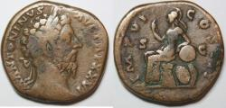 Ancient Coins - MARCUS AURELIUS. 161-180 AD. Æ Sestertius (21.13, 31mmgm).