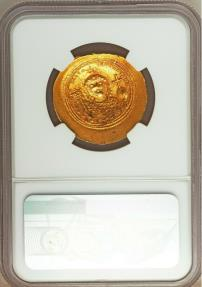 Ancient Coins - Constantine IX Monomachus (AD 1042-1055). AV histamenon nomisma (27mm, 4.41 gm, 5h).