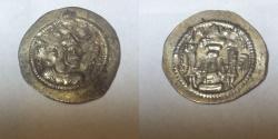 Ancient Coins - SASANIAN. Peroz. 459-484 AD. AR Drachm (4.1 gm) Crowned bust