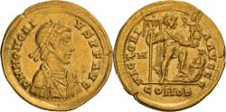 Ancient Coins - Honorius. 393-423 AD. Solidus, 4.42gg. (6h). Milan, c. 395-408 AD.
