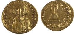 Ancient Coins - Constans II. 641-668. AV Solidus (20mm, 4.42 g). Constantinople mint, 4th officina.