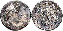 Ancient Coins - SELEUKID EMPIRE. Demetrios II Nikator. First reign, 146-138 BC. AR Tetradrachm