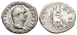 Ancient Coins - Vitellius. AD 69. AR Denarius (19.5mm, 3.11 g, 6h). Rome mint.