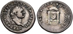 Ancient Coins - Titus. AD 79-81. AR Denarius (18mm, 3.24 g, 4h). Rome mint.