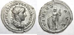 Ancient Coins - Gordian III. AD 238-244. AR Antoninianus. Rome mint, 5th officina. 1st emission, AD 238.