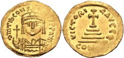 Ancient Coins - Tiberius II Constantine. 578-582. AV Solidus (22mm, 4.42 g, 6h). Constantinople mint, 5th officina.