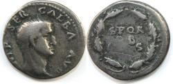 Ancient Coins - GALBA. 68-69 AD. AR Denarius (3.28 gm). Rome mint.  IMP SER GALBA AVG,