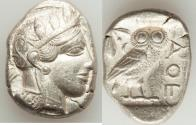 Ancient Coins - ATTICA. Athens. Ca. 440-404 BC. AR tetradrachm (17.15 gm). XF.