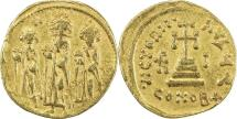 Ancient Coins - BYZANTINE EMPIRE: Heraclius, 610-641, AV solidus (19mm, 4.22g), Constantinople,