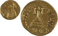 Ancient Coins - Constans II. 641-668. AV Solidus (20mm, 4.44 g). Constantinople mint, 7th officina.