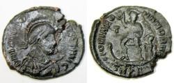 Ancient Coins - Theodosius I. AD 379-395. Æ 25mm (5.4 gm). Cyzicus mint, 1st officina. Stru