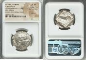 Ancient Coins - ATTICA. Athens. Ca. 465-455 BC. AR tetradrachm (26mm, 17.18 gm, 8h). NGC Choice XF 5/5