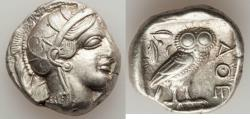 Ancient Coins - ATTICA. Athens. Ca. 440-404 BC. AR tetradrachm (17.16 gm). XF.