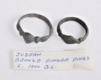 Lot of 2 Ancient Roman Bronze Rings c.2nd-3rd Cent AD.