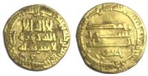 ISLAMIC, Abbasid Egypt Gold Dinar Harun Al-Rashid 786-809 AD. 182 AH, (798 AD)