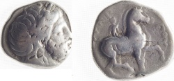 Ancient Coins - KINGS of MACEDON. Philip II. 359-336 BC. AR Tetradrachm