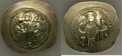 Ancient Coins - Nicephorus III Botaniates (AD 1078-1081). EL histamenon nomisma scyphate