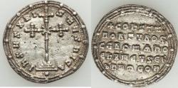 Ancient Coins - Constantine VII Porphyrogenitus and Romanus II (AD 945-963). AR miliaresion