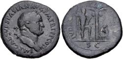 "Ancient Coins - Vespasian. AD 69-79. Æ Sestertius (34mm, 25.23 g, 6h). ""Judaea Capta"" commemorative. Rome"